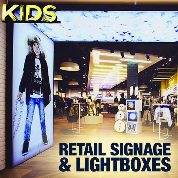retail signage & lightboxes