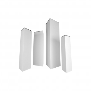 triangular display towers